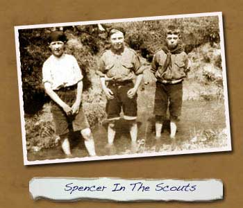 Spencer Hardwick in Scouts. 1st left