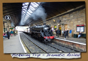 Normanby LHG Trip to Pickering - Train Arrival