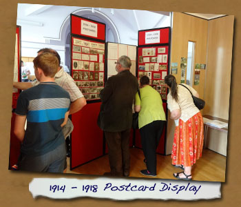 1914-18 Postcard Display